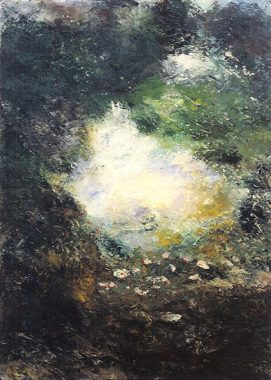 Peinture sur toile d'August Strindberg
