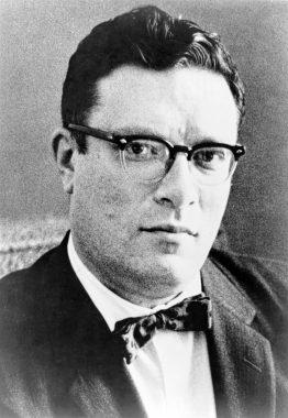 "Isaac Asimov par Philip Leonian pour le ""New York World Telegram and Sun"" en 1965"