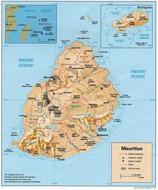 Cavaillès île maurice carte