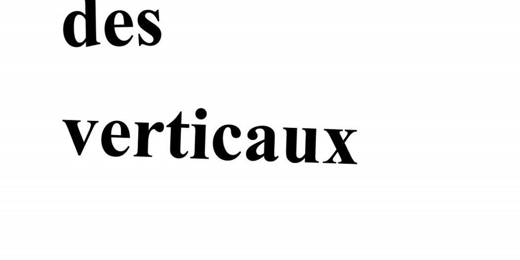 Couverture Traité des verticaux Jérôme Gontier
