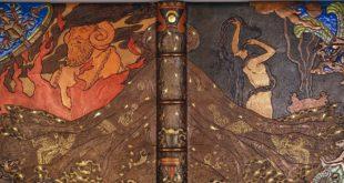 Victor Prouvé, reliure de l'édition 1893 de Salammbô, musée de l'école de Nancy (photo : Studio Image - détail)